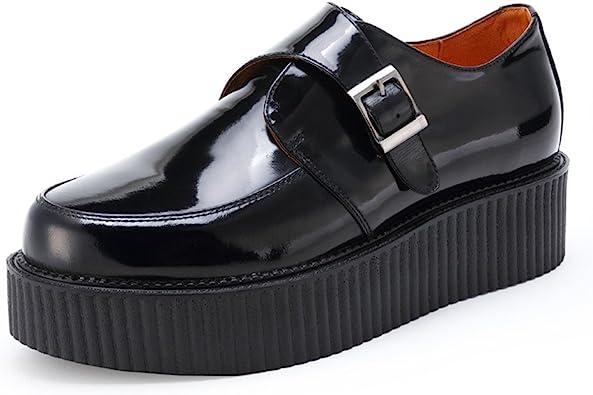 Mens Leather Oxford Brogues Platform
