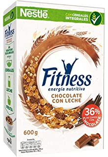Cereales Nestlé Fitness Copos de trigo integral, arroz y avena integral tostados, chocolate con