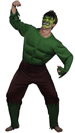 Hombre Adulto Verde Giant increíble Hulk Músculo Super Hero ...