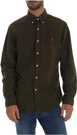 Ralph Lauren Polo Camicia UOMO Company Olive