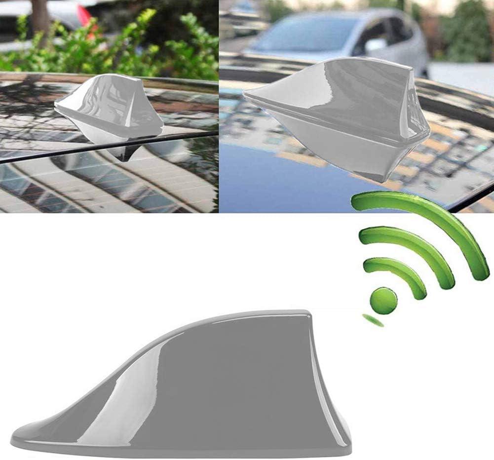 INTVN Aleta de coche - Antena Universal para Coche, Antena de Aleta de Tiburón, Señal de Radio Universal para Auto SUV Camión Van Roof Tail Antena ...