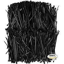 APTronix 1000 Premium Heavy Duty Zip Ties | Black Nylon Cable Ties | XGS Wire Ties By Aptronix (4 Inch, Black)