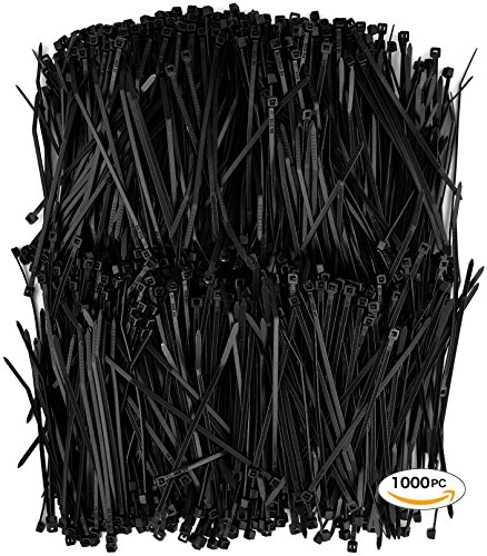 4 inch black zip ties - 2