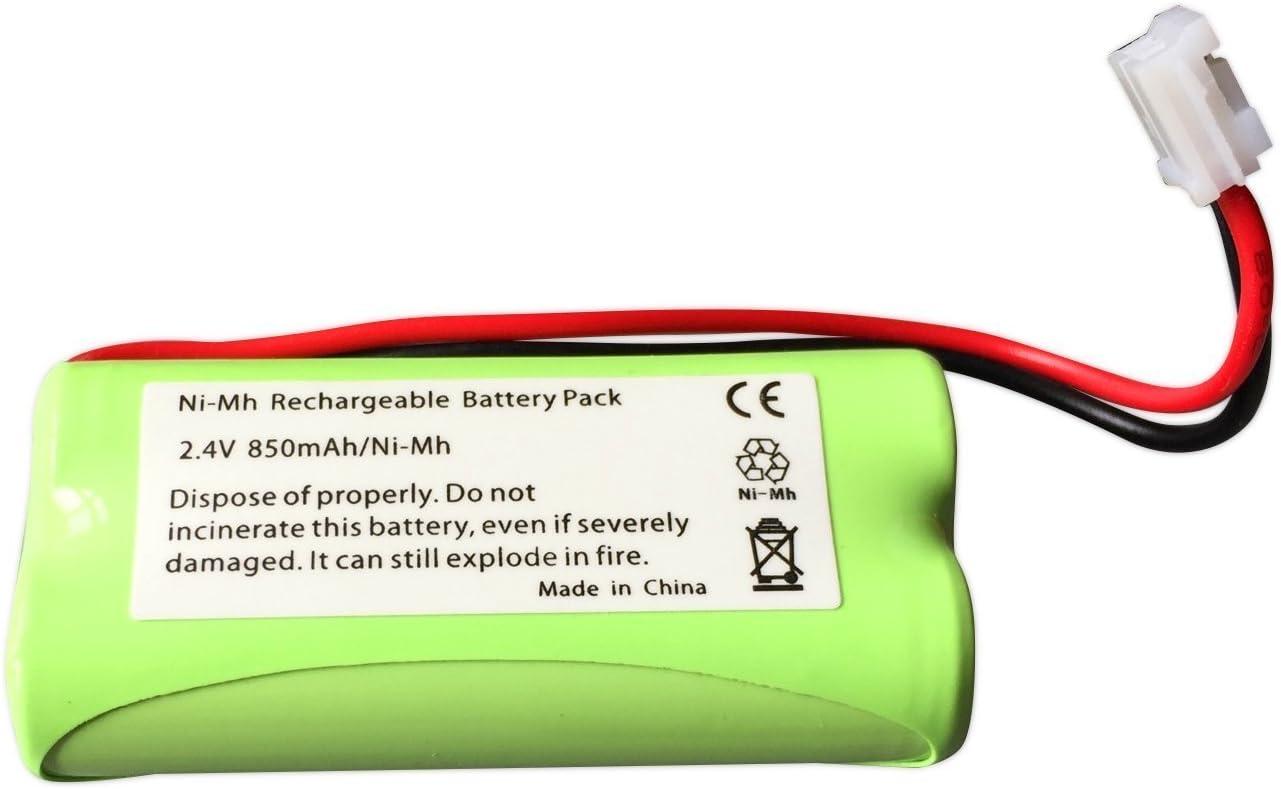 2,4/V Batterie de rechange pour babyphone num/érique Tomy TF525 850/mAh