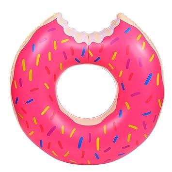 Donut Anillo de natación Inflable, Tukistore Flotador Gigante Buñuelo Piscina Anillo de Natación Flotador Agua Pool Float Juguetes Inflables para Adultos y ...