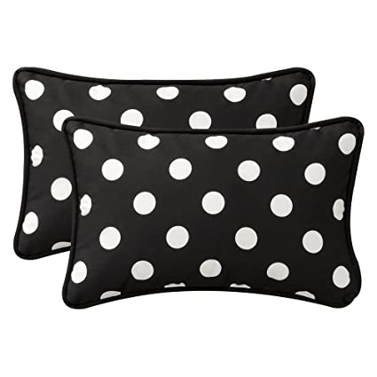 Fabulous Amazon.com: Pillow Perfect Decorative Black/White Polka Dot Toss  XQ88