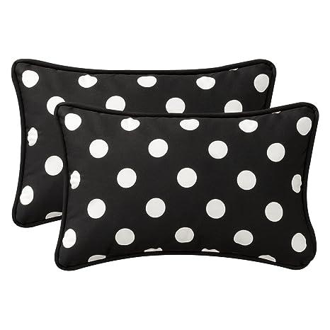Amazon.com: Almohada perfecto decorativo de color negro ...