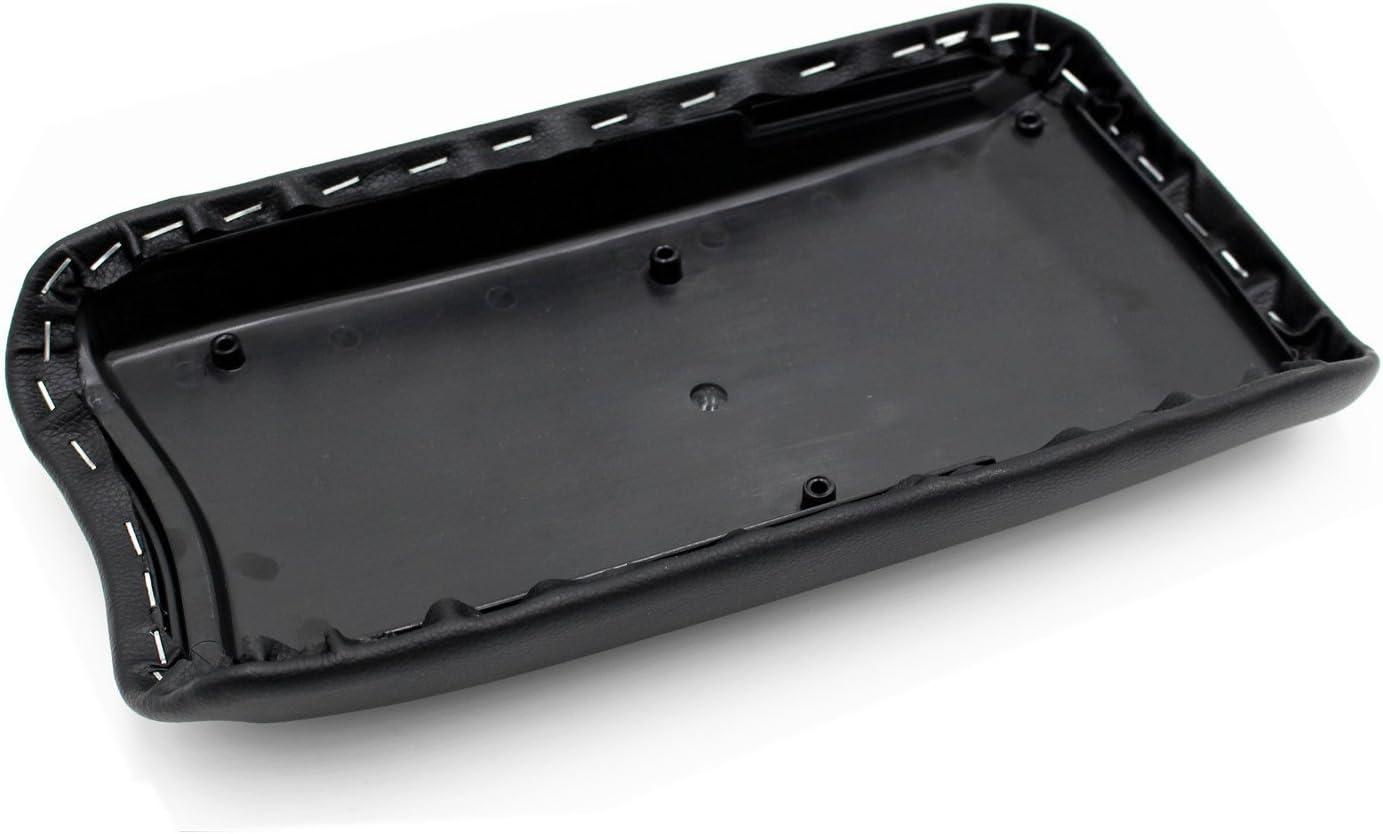 Ezzy Auto Leather Center Console Armrest Lid Cover Center Console Armrest Box Cover fit for 2006-2011 Honda Civic