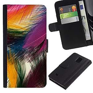A-type (Easter Festive Colorful Bird Nature) Colorida Impresión Funda Cuero Monedero Caja Bolsa Cubierta Caja Piel Card Slots Para Samsung Galaxy Note 4 IV