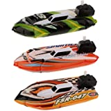 Kids Children Inflatable Wind Up Speedboat Boat Floating Boat Pool Bath Toy with Pump