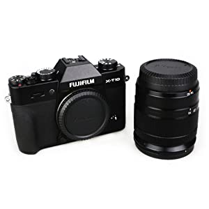 2 Pack JJC Body Cap and Rear Lens Cap Cover Kit for Fuji Fujifilm X Mount Cameras and Fujifilm Fujinon X Mount Lenses (Color: 2-Pack, Tamaño: For Fujifilm X Mount)