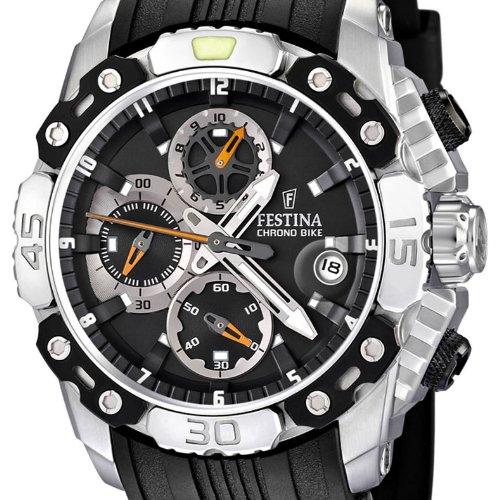 Festina F16543/4 - Reloj de pulsera con cronógrafo para hombre (correa de caucho y esfera negra): Festina: Amazon.es: Relojes
