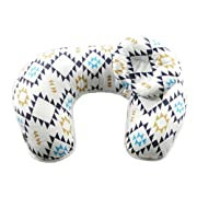 Baby Breastfeeding Nursing Pillow and Positioner,Machine Washable U Shape Nursing and Infant Support Pillow Bonus Head Positioner(Blue Geometry)