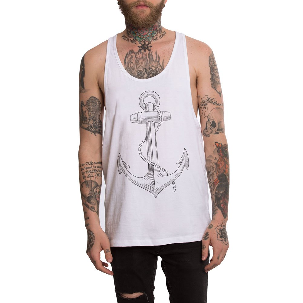 VIENTO Old School Anchor Camiseta de Tirantes para Hombre