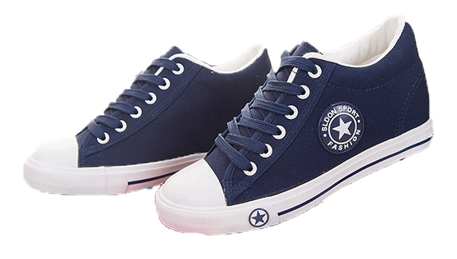 c4f209fec NEWMEN RIGHT Summer Sneakers Women Trainers Wedges Casual Canvas Shoes  Female Basket Femme: Amazon.co.uk: Shoes & Bags