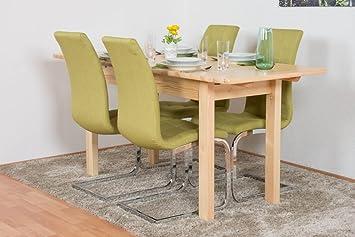 Mesa de comedor 75 x 140 cm, madera de pino maciza, extensible a ...