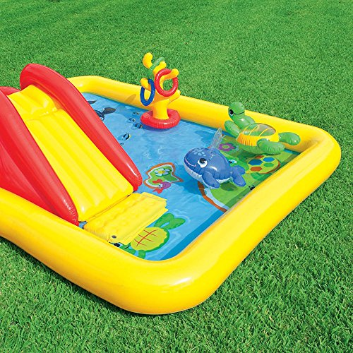 Intex Ocean Play Center Kids Inflatable Wading Pool + Quick Fill Air Pump by Intex (Image #6)