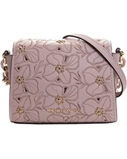b26851542eaa Michael Kors Sofia Small Leather Perforated Floral Studded Crossbody Purse