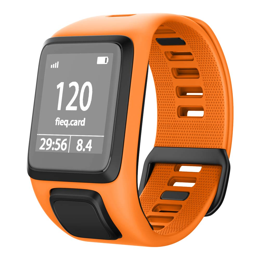 NotoCity Compatible with Tomtom Watch Band Silicone Watch Strap Replacement for Spark/Spark 3/Golfer 2/Adventurer/Runner 2/3 Smartwatch(Orange)