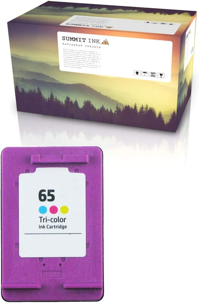 Summit Ink Remanufactured Ink Cartridge Replacement for HP 65 for Deskjet 2620 2630 2655 3720 3730 3750 3755 Envy 5020 5030 5055 AMP 100 (1 Color)