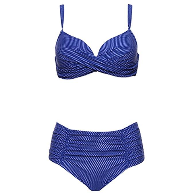 YYES Bikinis Traje de Baño de Las Mujeres del Doblez Sólido ...