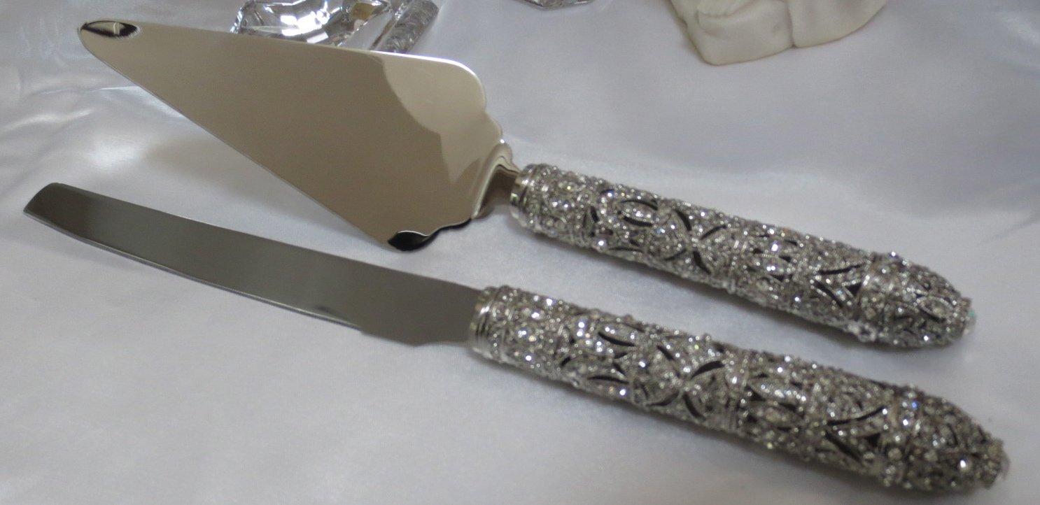 Olivia Riegel Windsor Crystal Wedding Dessert Serving Set w/Knife & Server by Olivia Riegel