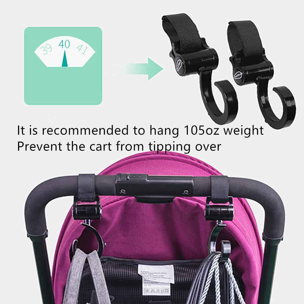 QGUOYU Stroller Hook Multipurpose Stroller Clips 2 Pack of Multi Purpose Hooks