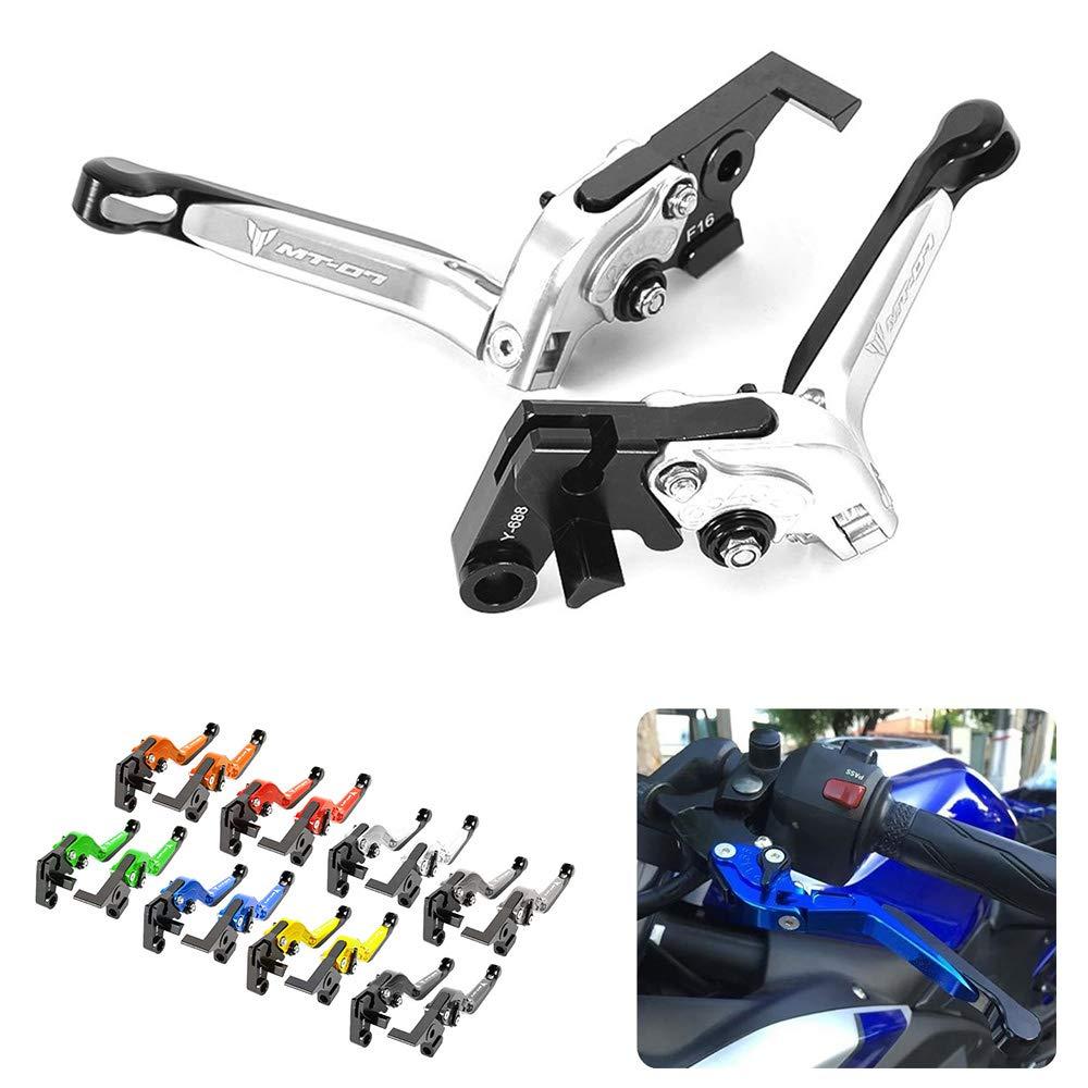 Coppia leve freno e frizione per motocicletta in alluminio ricavato CNC per Yamaha MT-07/2014-2016 pieghevoli ed estendibili