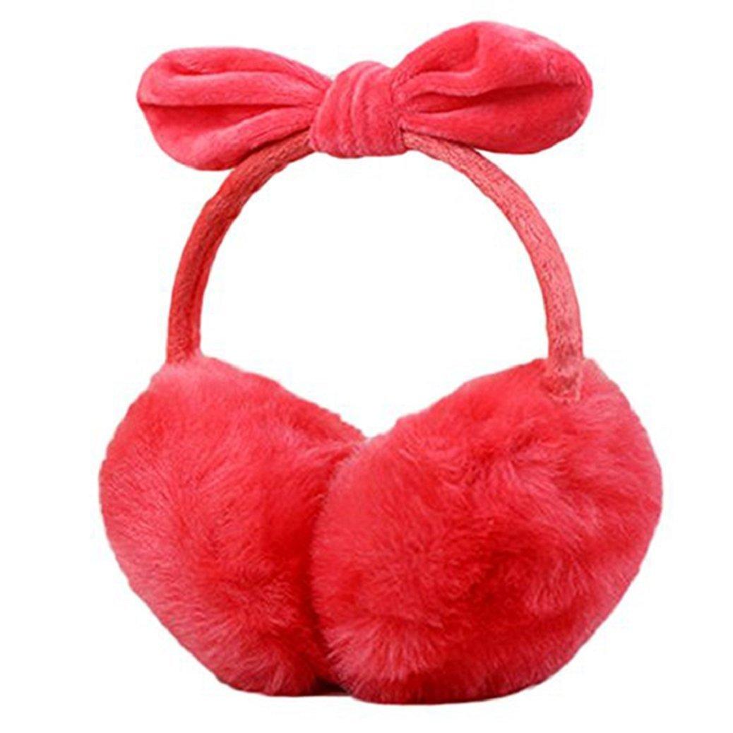 Shengyuze Women Faux Rabbit Fur Earmuffs Rabbit Ear Earwarmers
