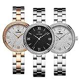 Women's Quartz Watch, Simple Casual Fashion 30M Waterproof, Stainless Steel Strap