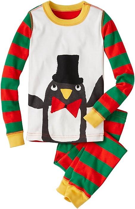 d929613e490d Amazon.com  Hanna Andersson Big Girl Kids Long John Pajamas in ...