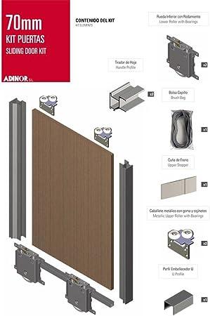 ADINOR Kit de herrajes para tablero de 16mm con tirador FO ANODIZADO PLATA MATE: Amazon.es: Bricolaje y herramientas