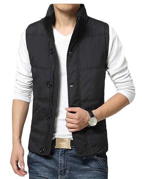 7564180fe6 CRYYU Mens Stylish Padded Body Warmer Puffer Vest Active Bodywarmer Black  US XS