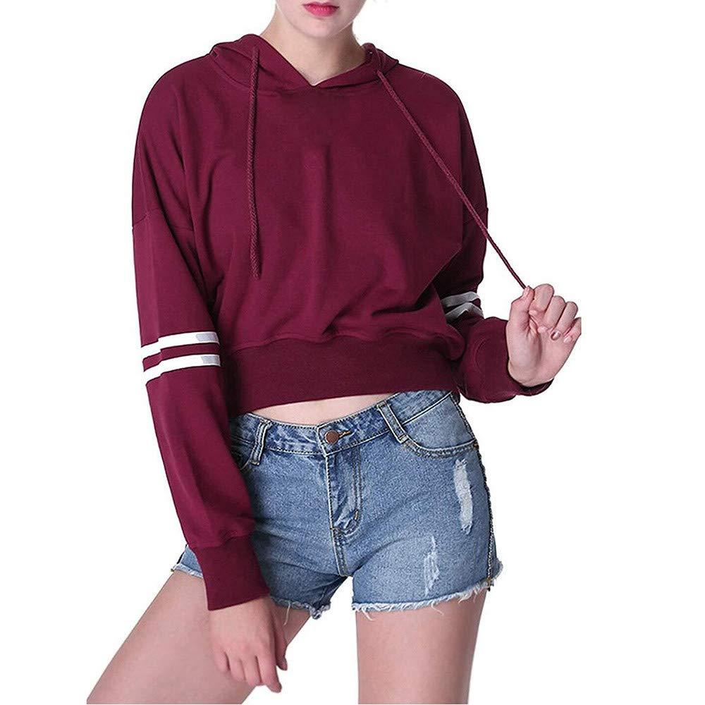 Women Sweatshirt, Farjing Casual Letter Long Sleeve O-Neck Tops Blouse Sweatshirt(XL,Purple)