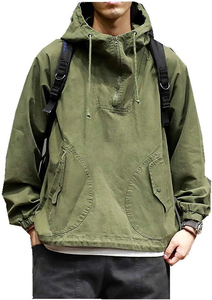 NOBRAND Abrigo Casual de Manga Larga para Hombre de Primavera y otoño