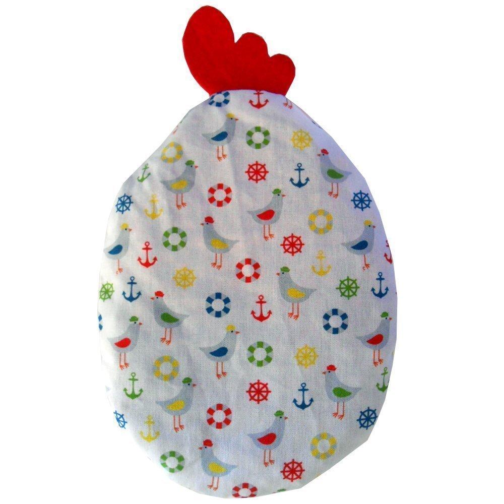 Coussin thermique rempli de noyaux de cerise «COC-COC» idéal pour les nourrissons et les jeunes enfants, traitement froid/chaleur, 21x17 cm, 100% coton, contient 180 gr de noyaux de cerise