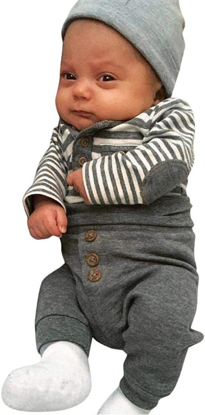 Conjuntos Bebe, ASHOP 0-4 años Niño Niña Otoño/Invierno Ropa Conjuntos, Camisetas de Manga Larga con Rayas + Pantalones: Amazon.es: Ropa y accesorios
