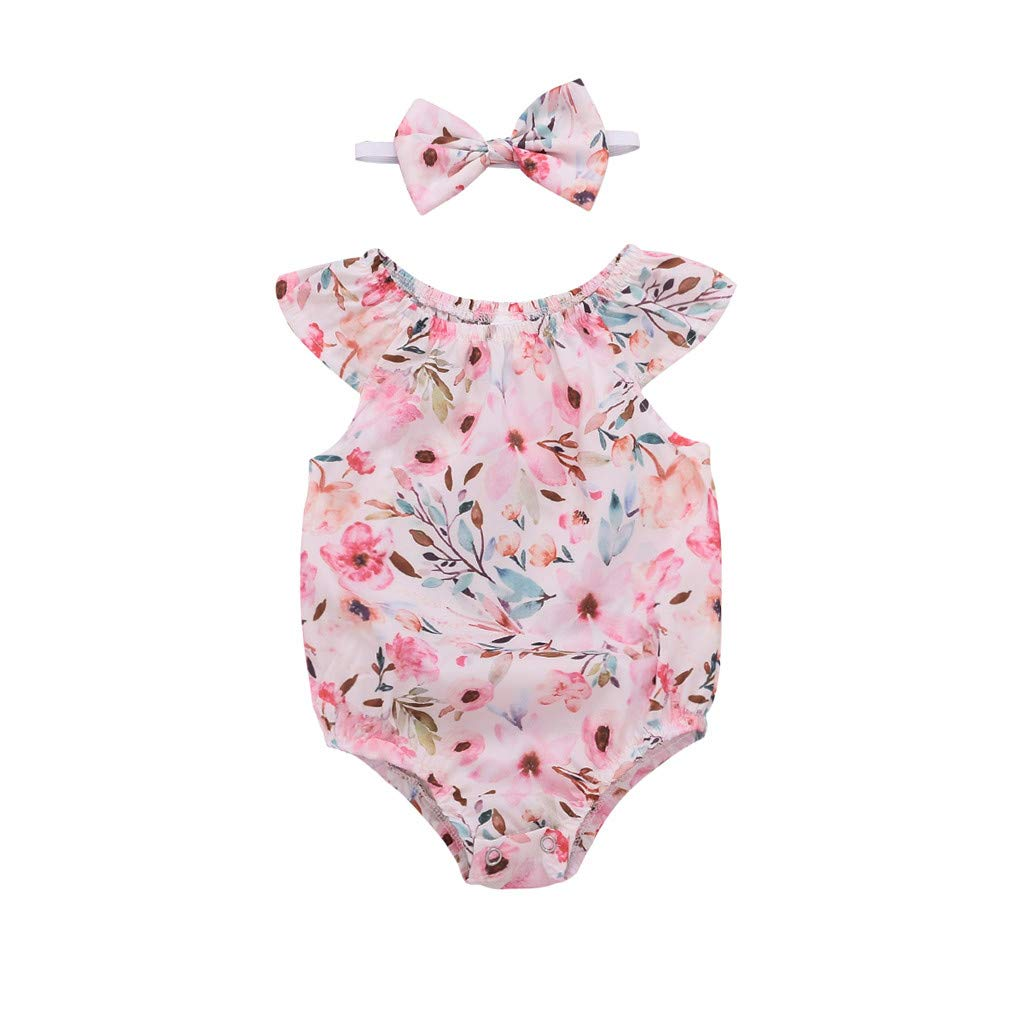 Amazon.com: LNGRY Baby Outfits,Toddler Infant Kid Girls Ruffle ...