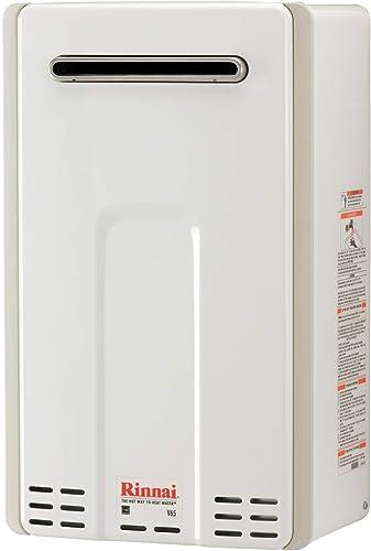 Rinnai V65eN Tankless Hot Water Heater, Large, White