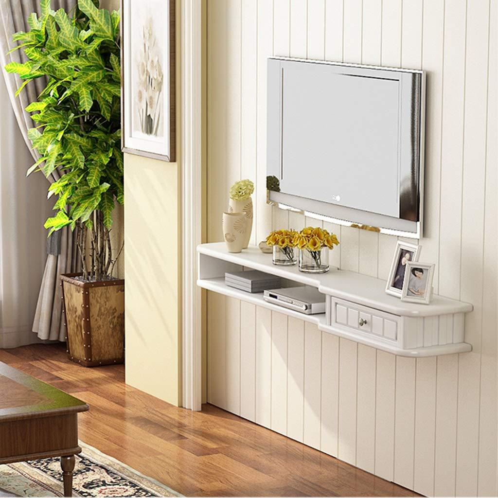 フローティングシェルフ 木製 テレビキャビネット セットトップボックスシェルフ リビングルーム テレビ 壁の背景 フローティングシェルフ ベッドルーム 壁の装飾ストレージシェルフ (色 : A, サイズ さいず : 120CM) B07KN5K38Q A 120CM