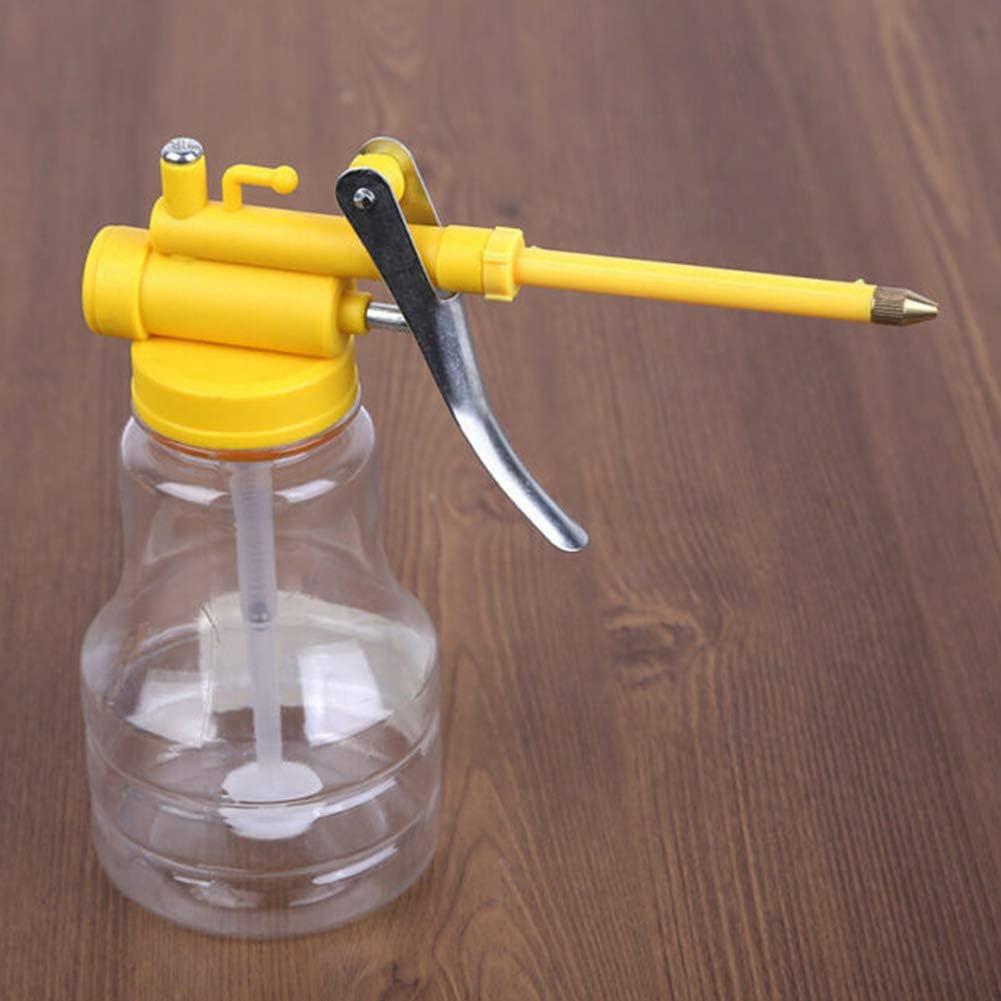 boca larga herramienta de reparaci/ón bomba flexible visible relleno de alta presi/ón pulverizador con gran capacidad de lubricante botella de gota transparente Aceitera manual de 300 ml
