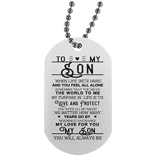 Amazon.com: Meaningful Quote Son Dog Tag From Dad Chain -You ...