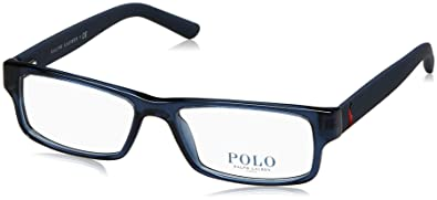 33680b7e7e3 Image Unavailable. Image not available for. Color  Polo Men s PH2119  Eyeglasses Shiny Navy Blue 53mm