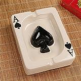 Ashtray bijiben_ Creative personality poker ceramic, Spade