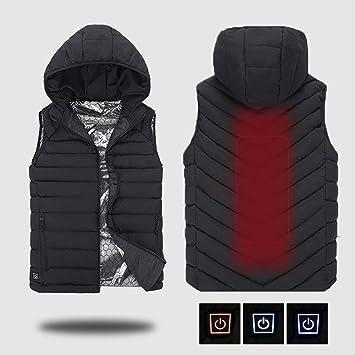 Chaleco térmico USB eléctrico, chaqueta de calefacción ...