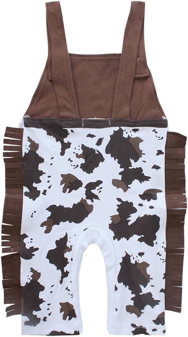 iixpin 3tlg Baby Jungen Bekleidungssets Tr/äger Body Latzhose /& Cowboyhut /& Bandana Anzug Cowboy Kost/üm Set Party Outfit Verkleidung