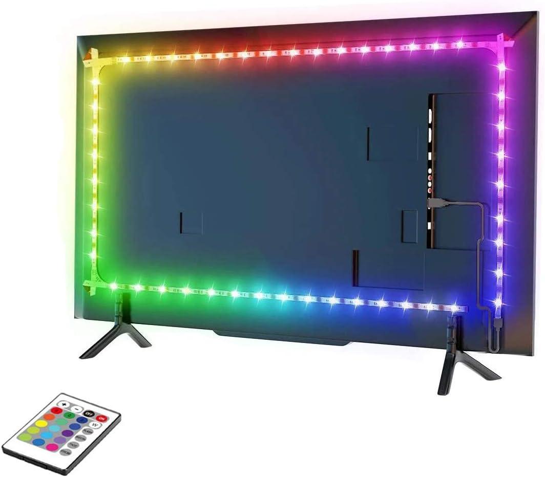 3 m alimentation USB R/étro/éclairage LED pour TV r/étro/éclairage TV avec ruban adh/ésif 3M bande lumineuse LED avec t/él/écommande pour TV de 46 /à 60 pouces