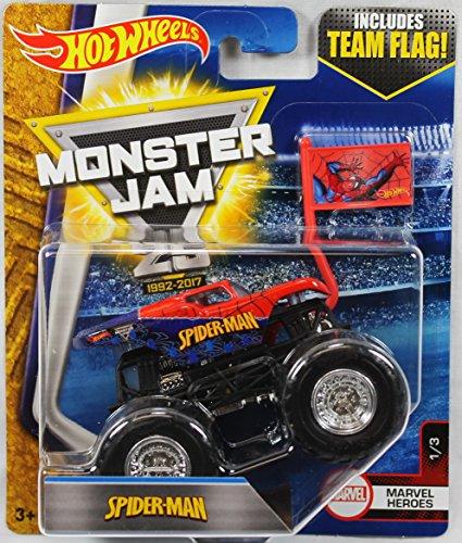 2017 Hot Wheels Monster Jam 1:64 Scale Truck with Team (Marvel Truck)
