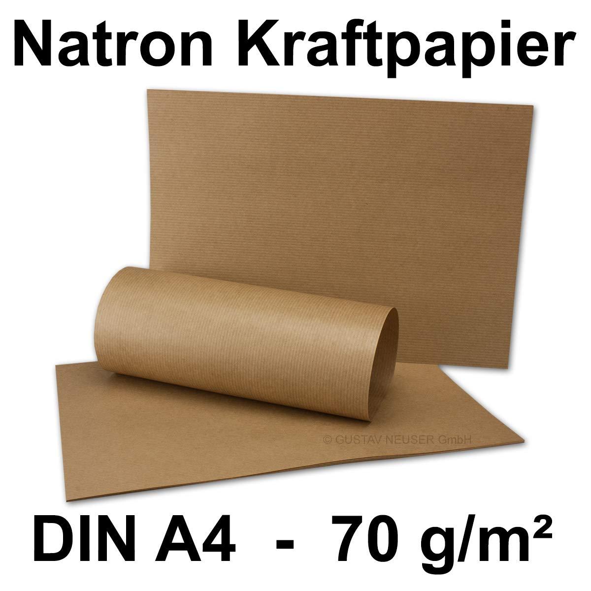 /70/G//MQ DIN A4/arco Bicarbonato Di Sodio della carta kraft gerippt/ leggero 210/X 297/mm////qualit/à professionale 100 Bogen braun gerippt