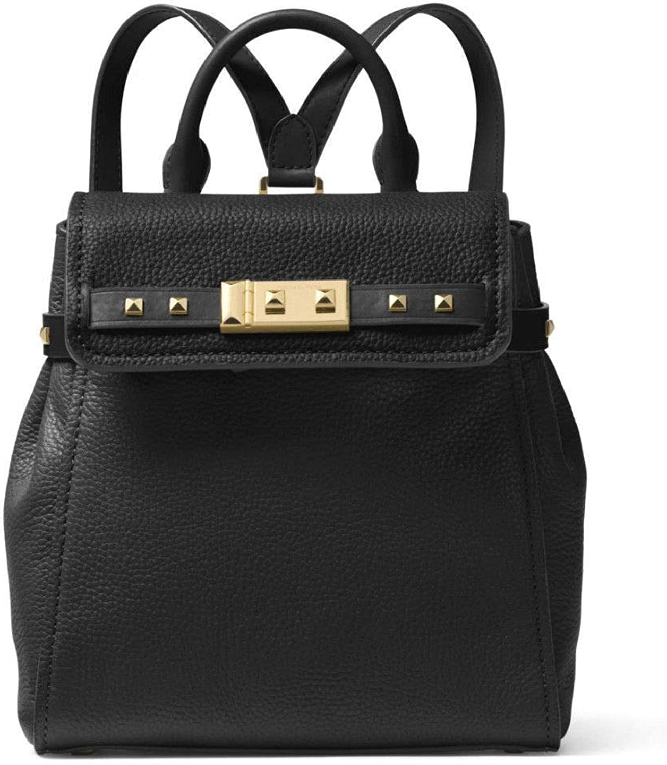 Michael Kors Addison Studded Small Pebbled Leather Backpack Purse